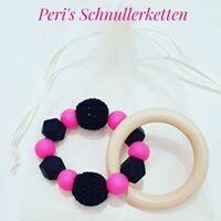 Greifling/ Greifring Maus pink/ schwarz