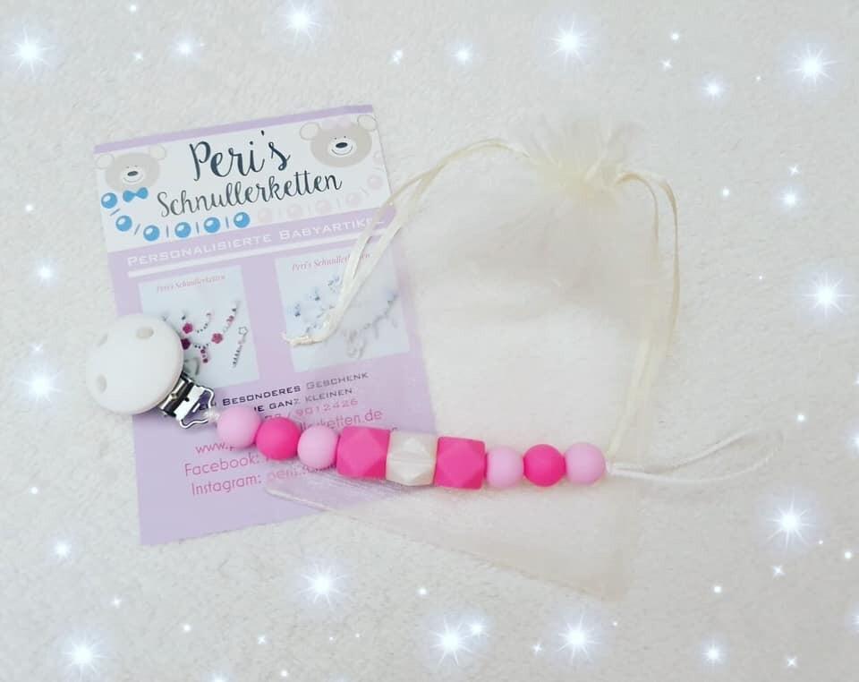 Schnullerkette rosa /pink