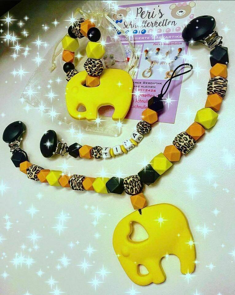 Set Elefant gelb, schwarz