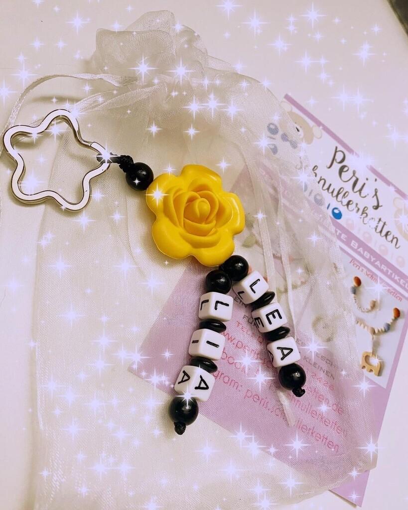 Schlüsselanhänger Blume Silikon