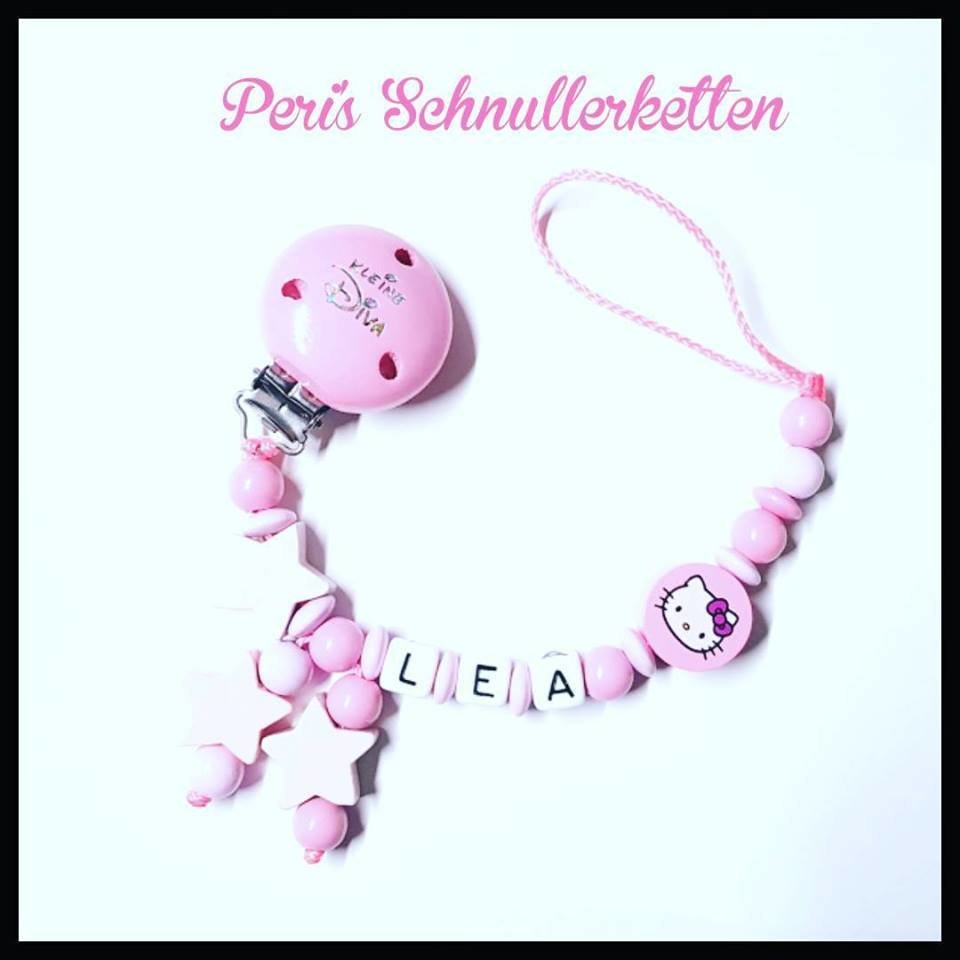 Schnullerkette Hello Kitty Sterne