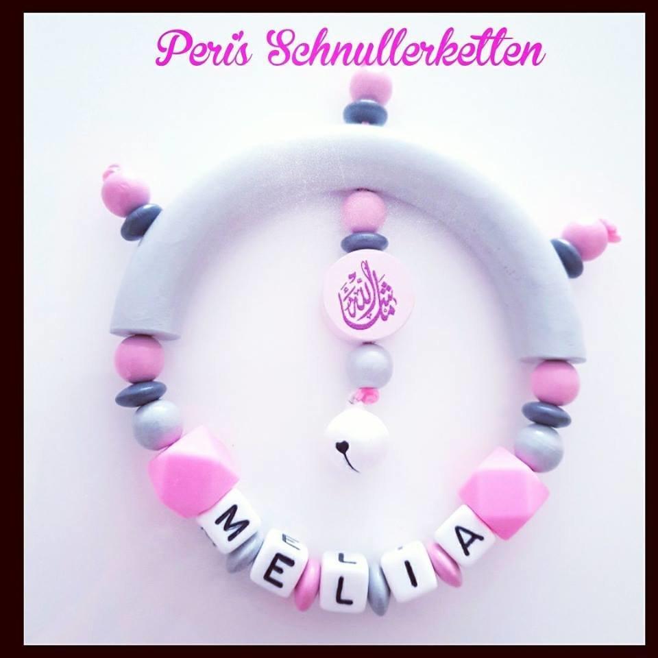 Greifling rosa Mashallah + Silikon Hexagon