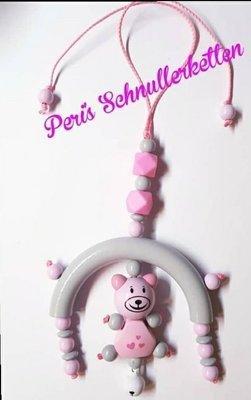 Maxi Cosi Kette / Mobile rosa/ grau