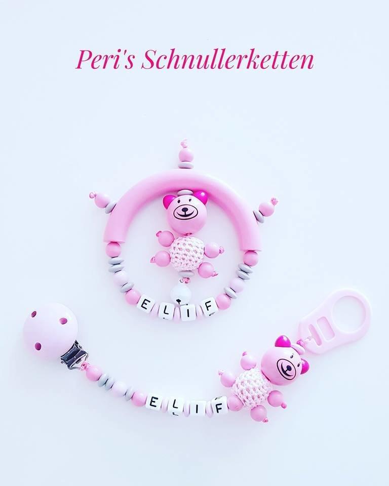 Schnullerkette + Greifling Set