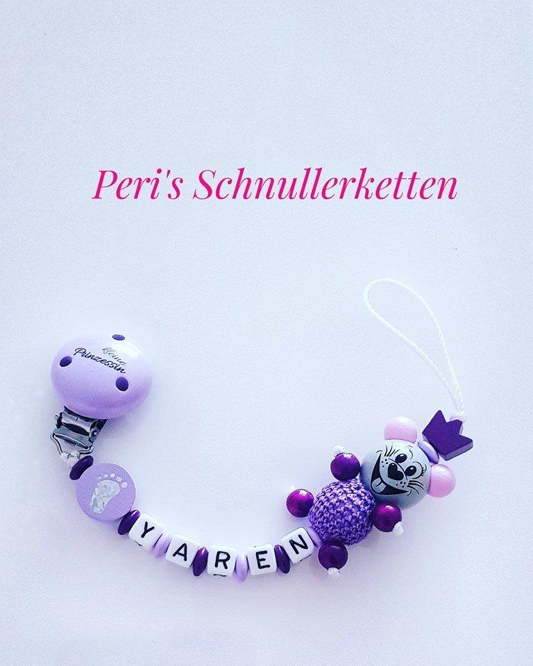 Schnullerkette Maus/ kleine Prinzessin flieder/ lila
