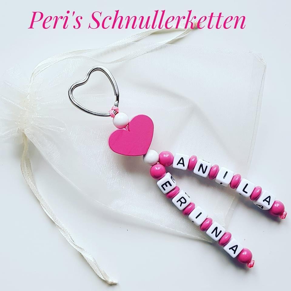 Schlüsselanhänger rosa Herz