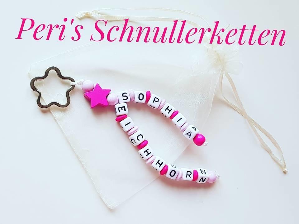 Schlüsselanhänger Stern , rosa/pink für 2 Namen