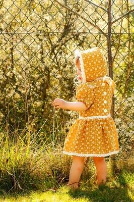 Šaty pro holčičku z bavlněné madeiry