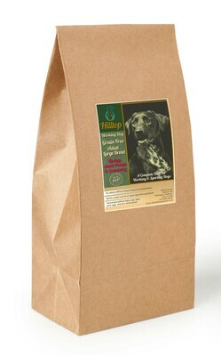 Hilltop Grain Free Working Dog LARGE BREED - Turkey with Sweet Potato & Cranberry 15kg