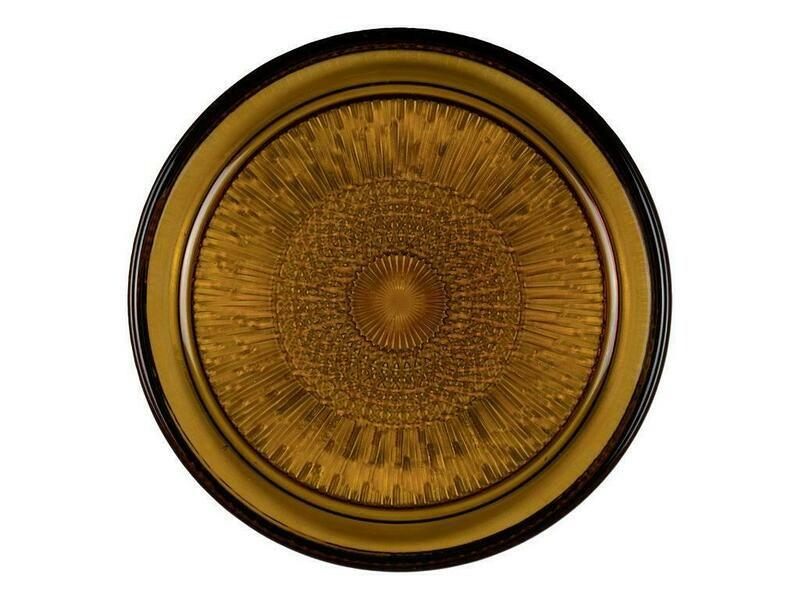 Bitz glerdiskur 18cm amber