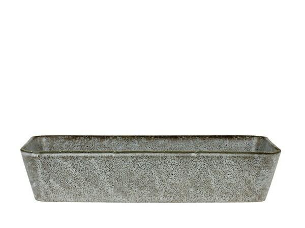 Bitz ferhyrnt fat 32x19cm grátt