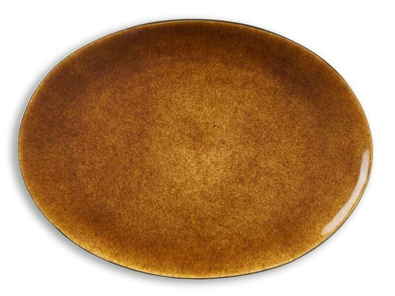 Bitz oval fat svart/amber