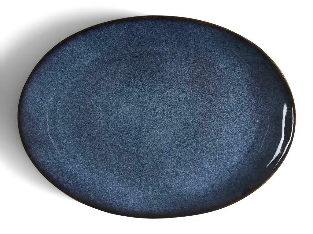 Bitz oval fat svart/dökkblátt