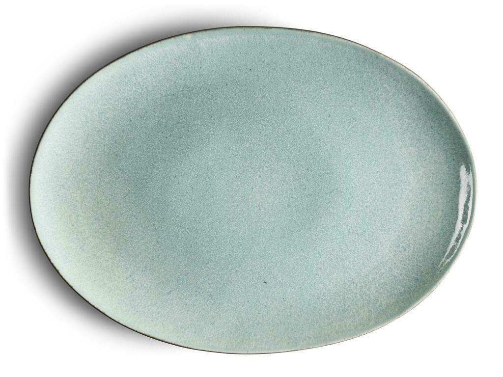 Bitz oval fat grátt/ljósblátt
