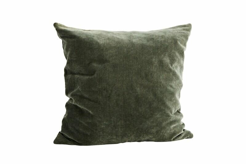 Madam Stolts Púðaver 50x50cm Flauel Dust Green