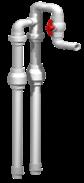 "Anua Duplex Pump Discharge Kit for 1-1/2"" Discharge"