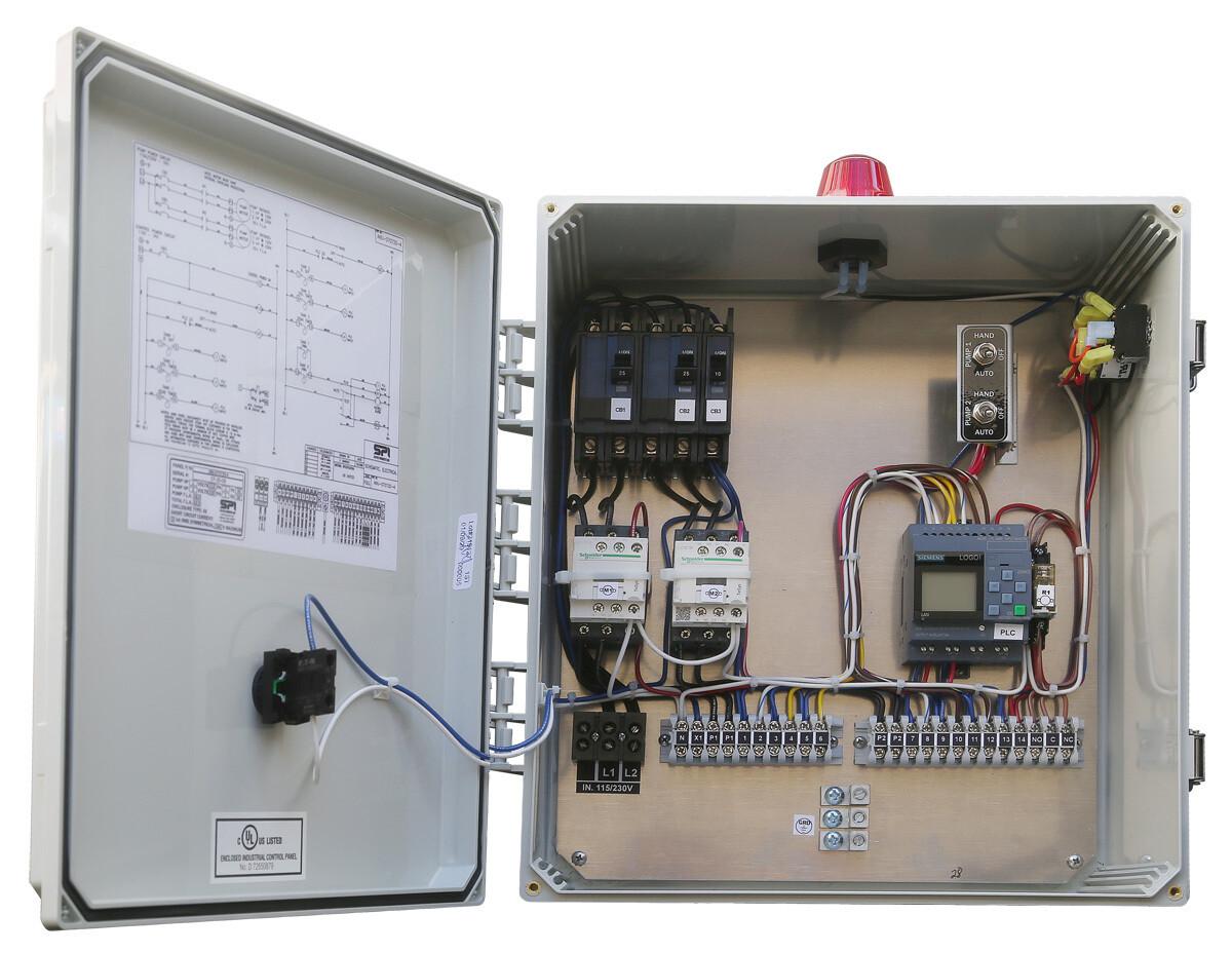 Anua Triplex Alternating Contactor PLC Repeat Timer with ETM CC, 115/230V