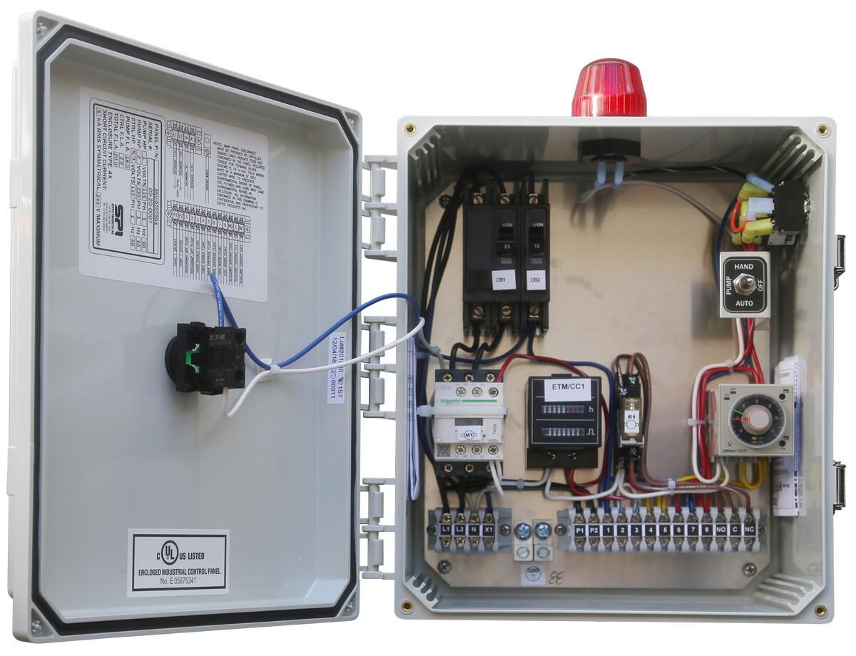 Anua Duplex Alternating Contactor Analog Repeat Timer with ETM CC, 115/230V