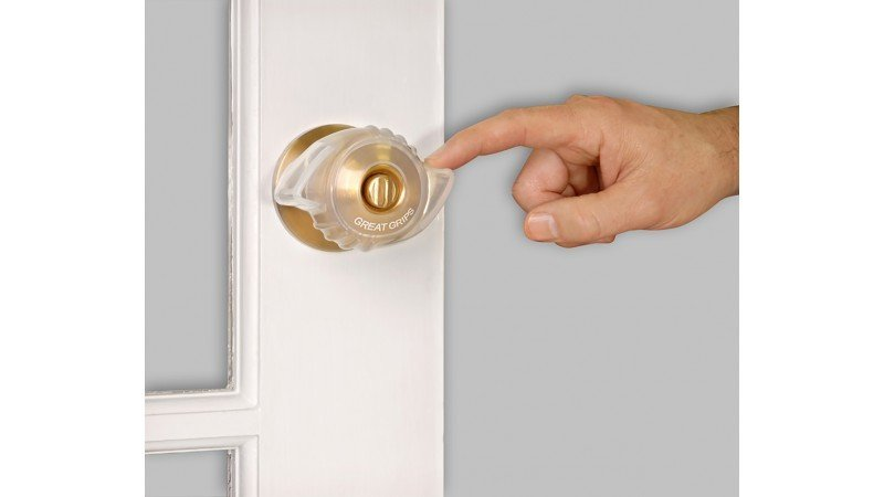 Great Grips | Silicone Door Knob Cover  | Ergonomic Door Knob Grip | 2 pack | Home Safety | Home Exit | Aging In Place