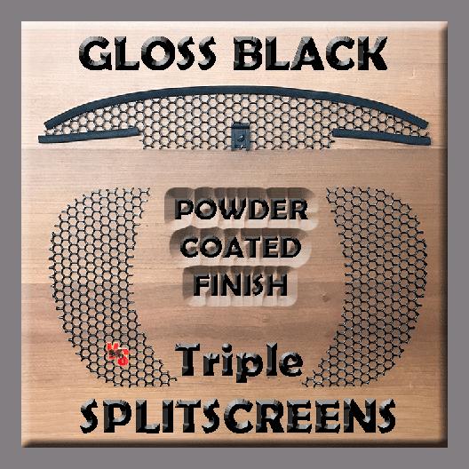 Road Glide Triple SPLITSCREENS - Gloss Black