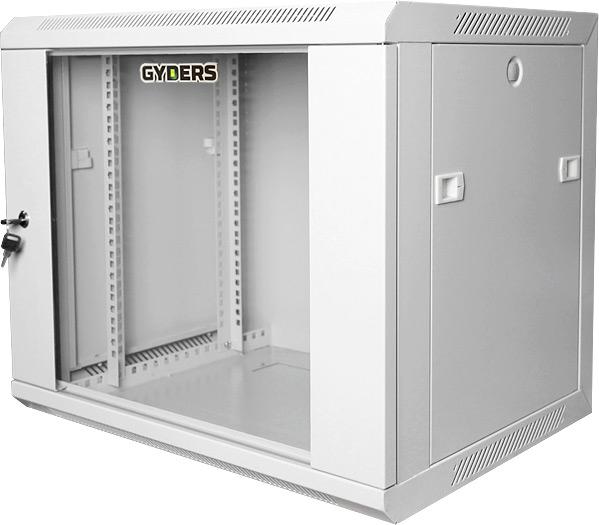 """Шкаф 19"""", 12U, 600х600х635 мм, стеклянная дверь, серый"""