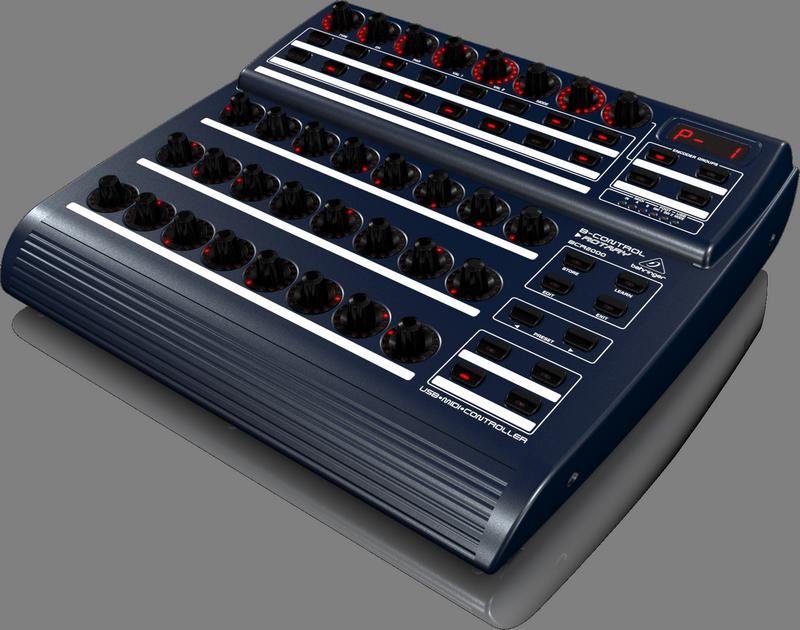 Behringer BCR2000 USB/MIDI-контроллер (32 энкодера) совместим с PC/MAC