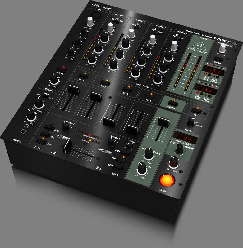 Behringer DJX900USB DJ-микшер со счетчиком темпа и USB интерфейсом (5 каналов, оптический VCA кроссфейд)