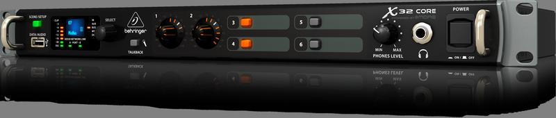 Behringer X32 CORE цифровой рэковый микшер, 2xAES50, Мониторн.выходы, USB-audio, управление PC/Linux/MAC/Android/ iPad/iPhone