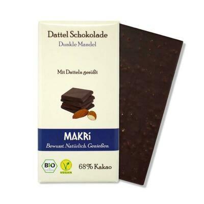 MAKRi Dattel Schokolade - Dunkle Mandel 68%