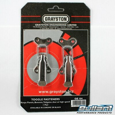 Grayston Large Over Centre Toggle Fasteners - Pair