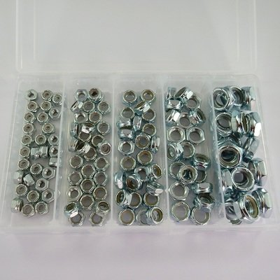 125 Piece UNF Thin Nylon Locknut Kit