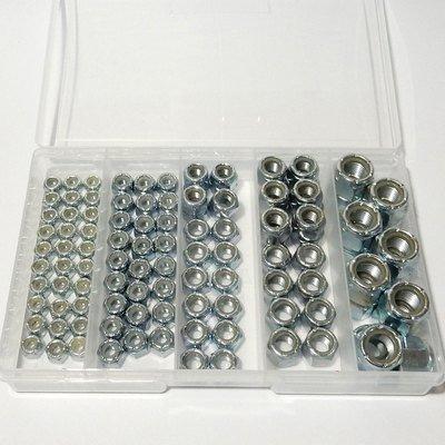 110 Piece UNF Full Width Nylon Locknut Kit