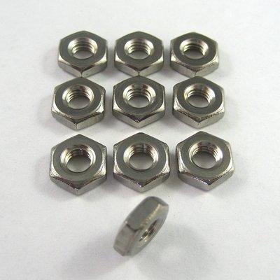 10-32 UNF Jam Nuts - Steel - 10 Pack
