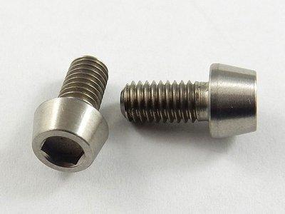 M5-0.8 x 10mm Tapered Head Socket Titanium Screw