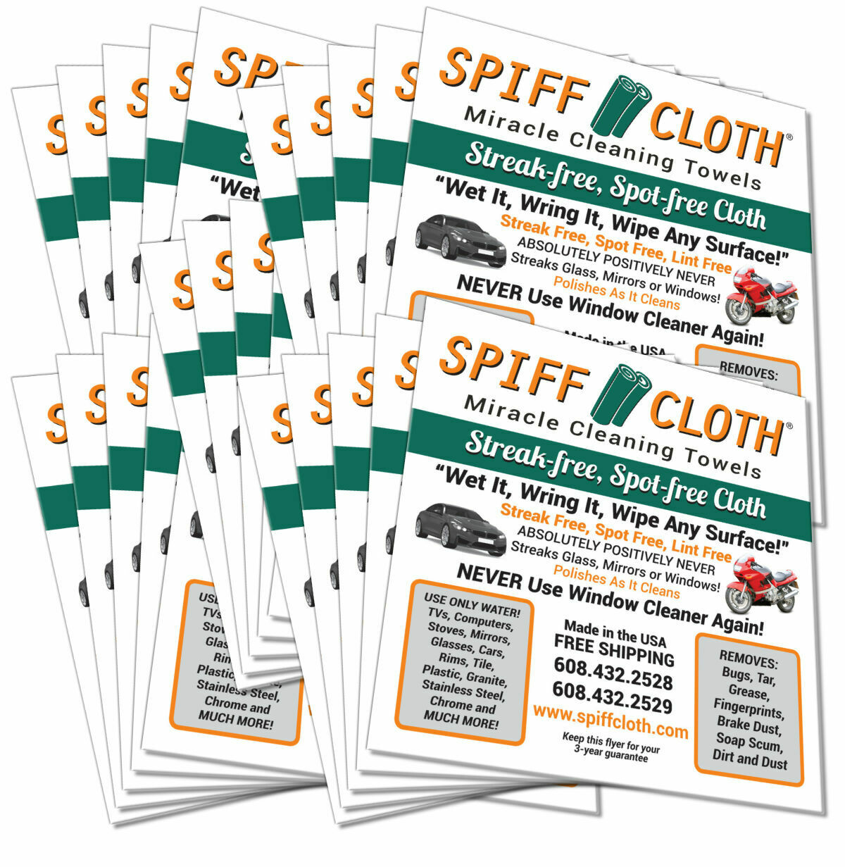25 Pack Spiff Cloth