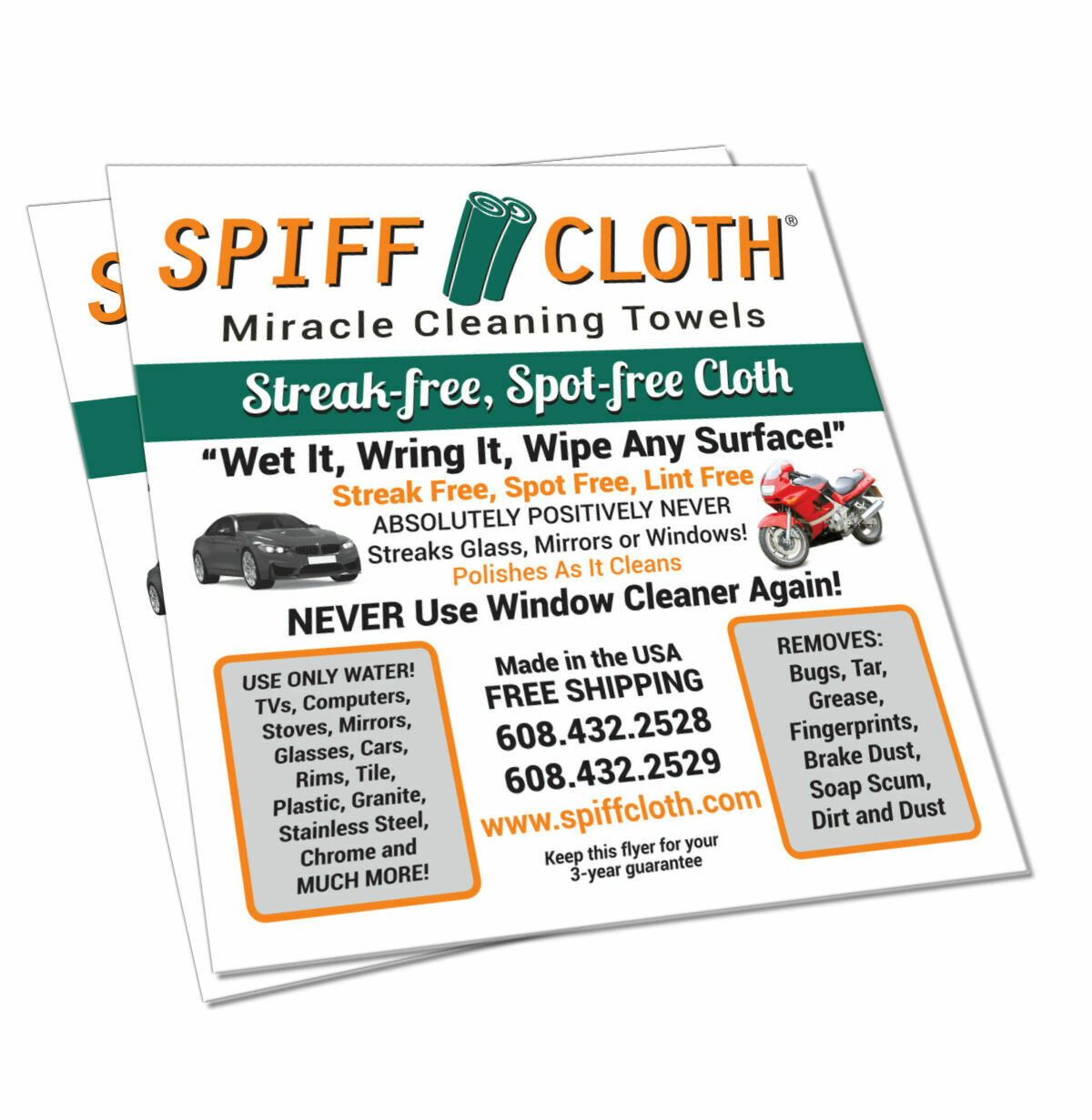 2 Pack Spiff Cloth