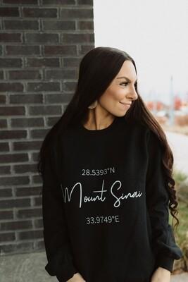 Mount Sinai Coordinates Sweatshirt
