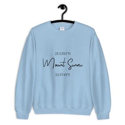 Mount Sinai Coordinates Sweatshirt - Pastel