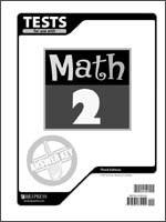 Math Tests Answer Key Grade 2 3rd Edition