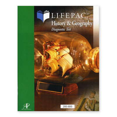 Lifepac Diagnostic Test History Grd 2-8