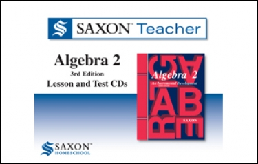 Saxon Homeschool Algebra 2 3rd ed. Teacher Lesson and CDs (9th - 12th Grade)