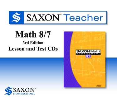 Saxon Math 87 Teacher CD-rom (7th Grade)
