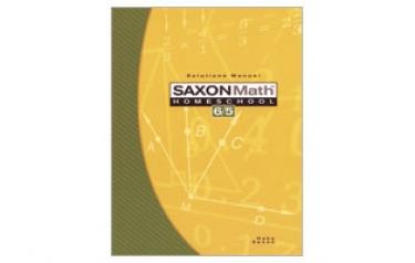 Saxon Math 65 Solutions Manual Third Edition (5th Grade)