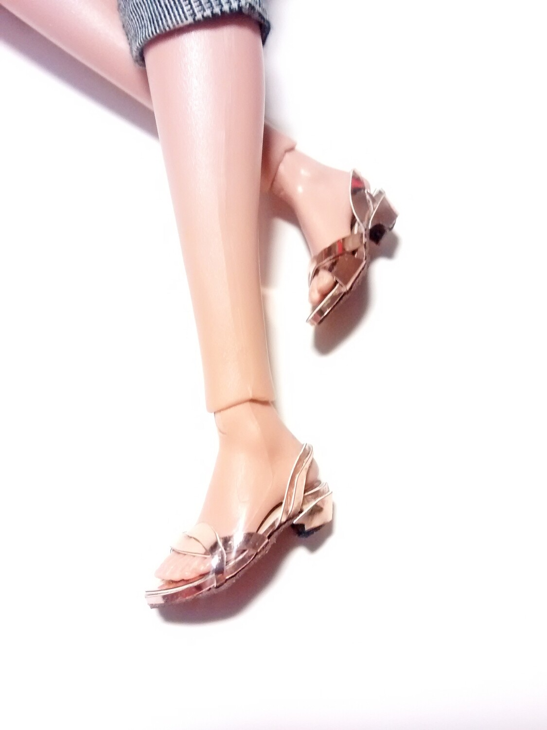 POPPY PARKER SANDALS READY MADE ROSE GOLD 15$USD