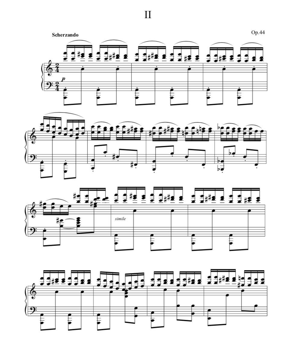 Concert Étude Op.44, No.2 [PDF file]