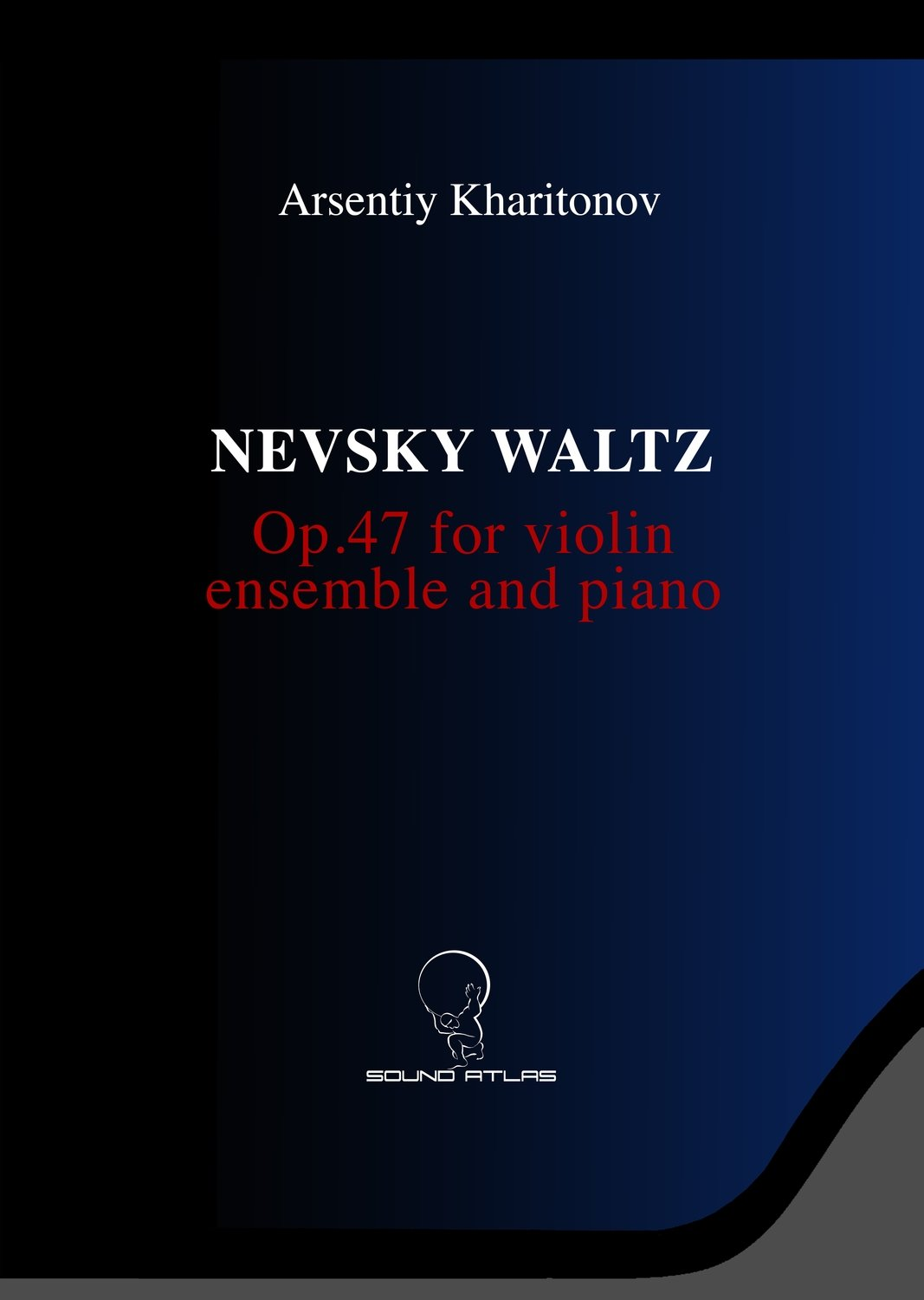 Nevsky Waltz  Op.47 for violin ensemble and piano (Digital Download, PDF file)