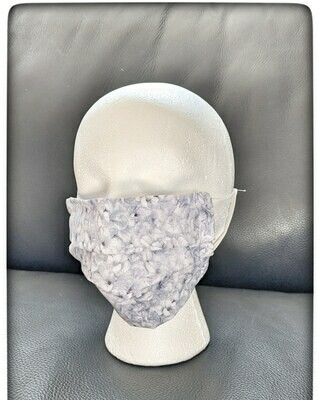 Ladies Hydrangea Pattern Face Mask with Elastic