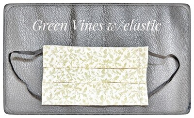 Green Vines Face Mask with elastic