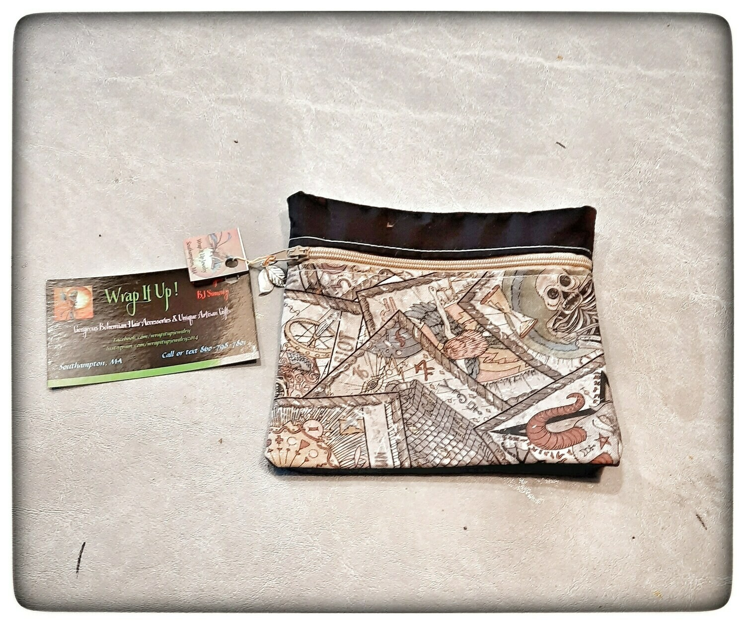 Cosmetic Bag or Face Mask Pouch