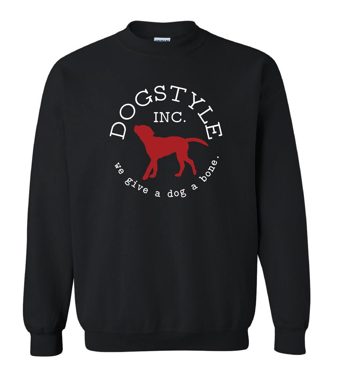 Dogstyle Crew Neck Sweatshirt - Black